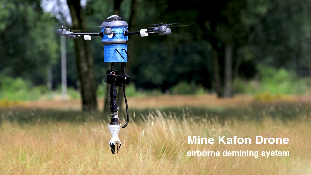 Mine Kafon Drone miniatura de video del proyecto