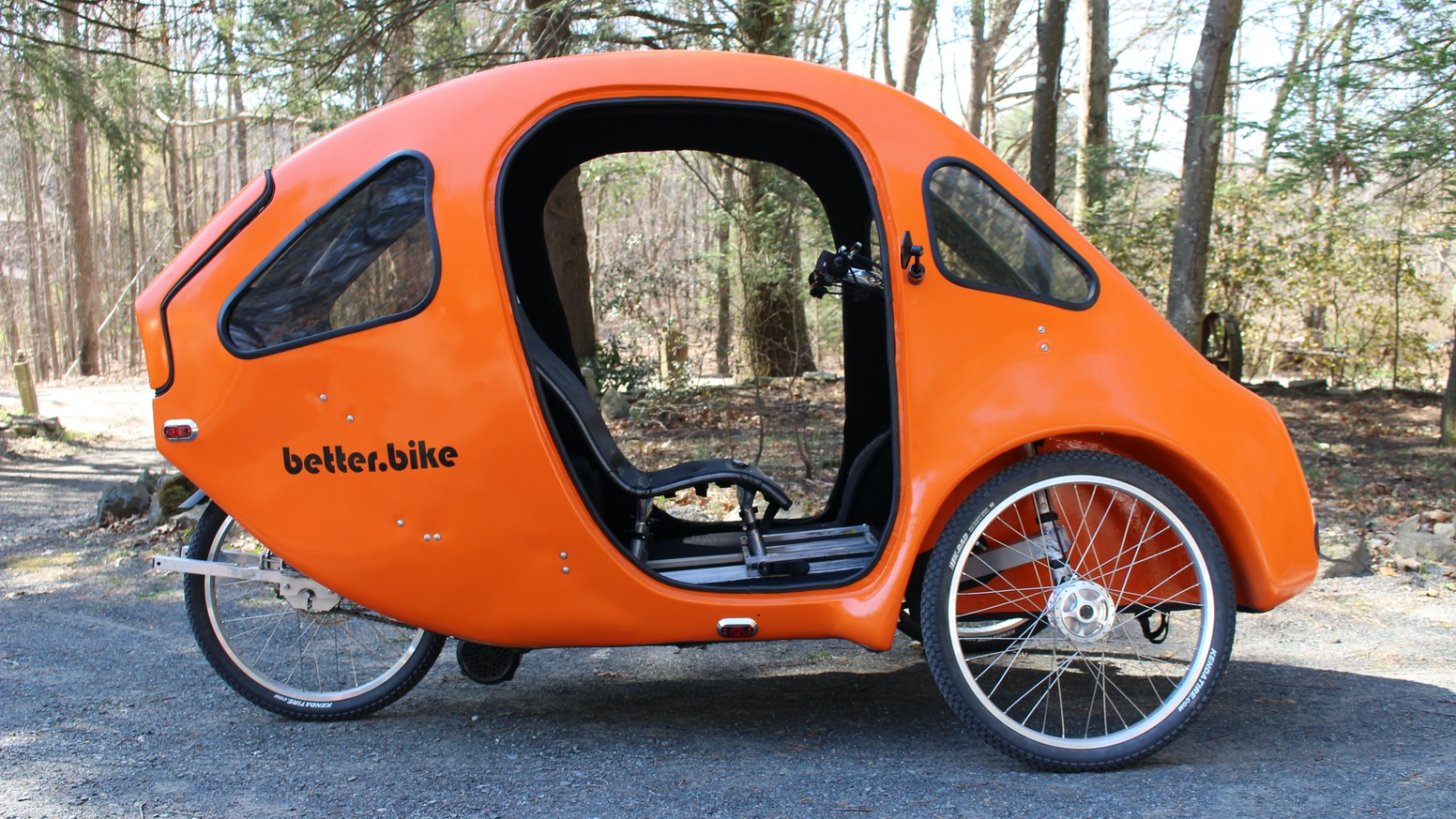 The PEBL: A fully enclosed, four season, hemp based, pedal electric vehicle designed and tested in the demanding New England climate.