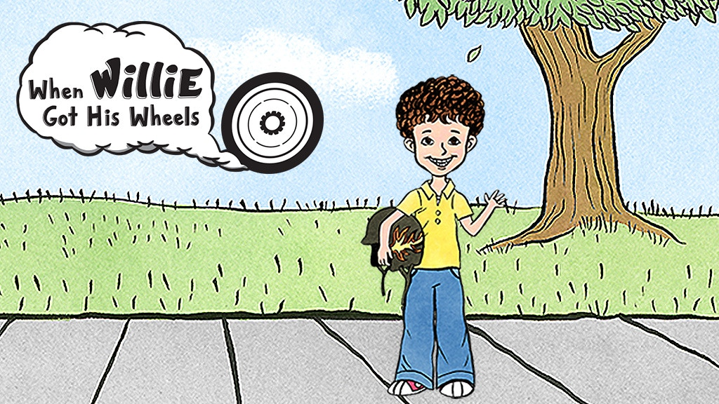 """Illustrated children's book """"When Willie Got His Wheels"""" project video thumbnail"""