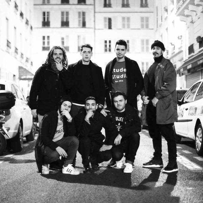 Les artistes Roche Musique : FKJ, Darius, Zimmer, Dabeull, Crayon, Cézaire & Kartell (Cherokee, Duñe & Plage 84 non présents sur la photo)