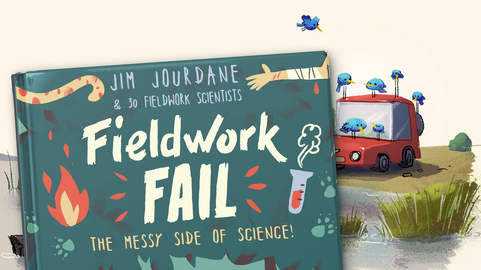 Ever been glued to a crocodile? The most embarrassing stories of fieldwork scientists illustrated in a book!