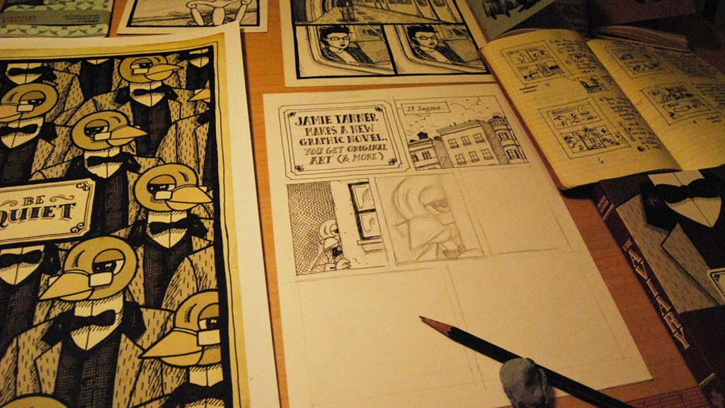 Jamie Tanner Makes A New Graphic Novel, You Get Original Art (and More) project video thumbnail