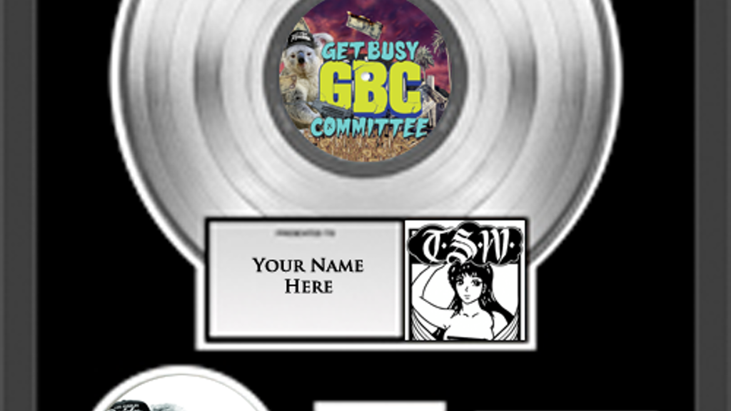 "Platinum Vinyl: Get Busy Committee's Picture-Disc 12"" project video thumbnail"