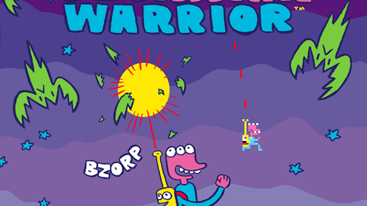James Kochalka and Pixeljam are making a video game called Glorkian Warrior.