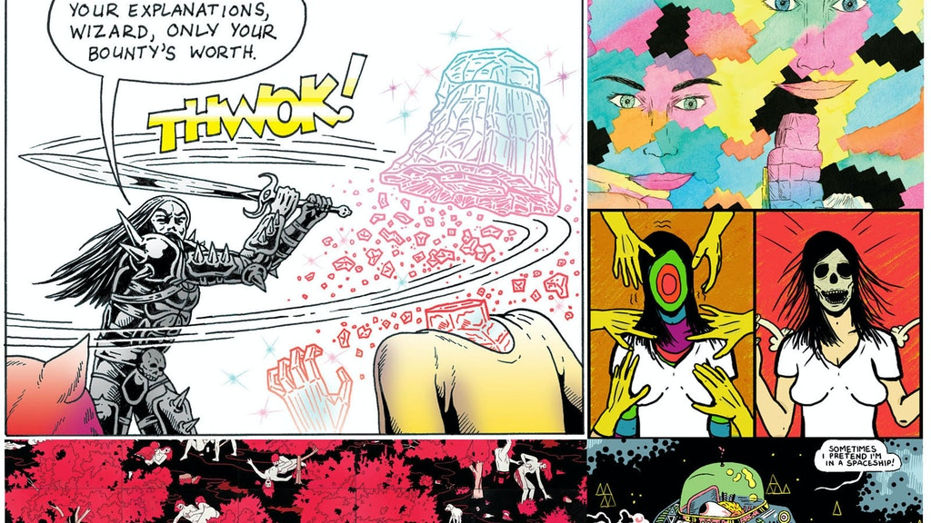 DIAMOND COMICS #5 - Free comics newspaper of experimental & psychedelic art project video thumbnail