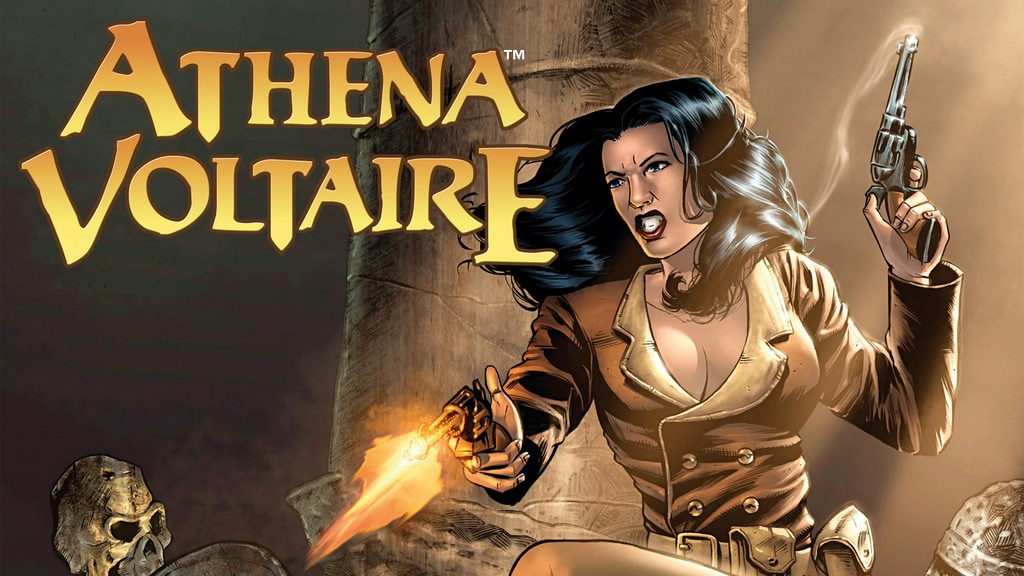 ATHENA VOLTAIRE and the Volcano Goddess - A Comic Book Project project video thumbnail