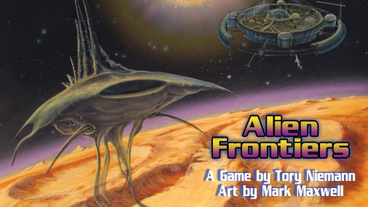 Alien Frontiers Retro Future Sci Fi Board Game