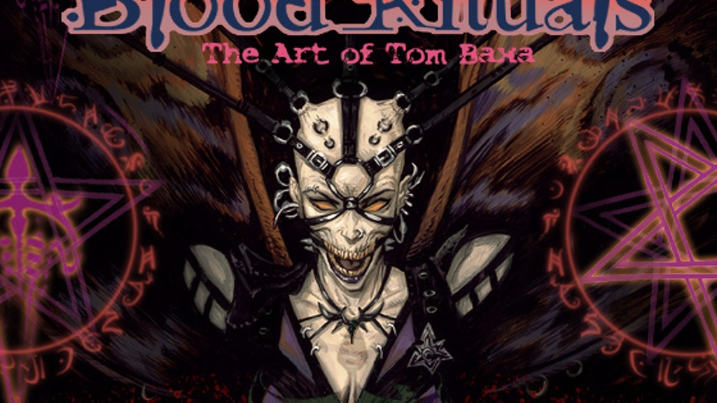 Blood Rituals: the Art of Tom Baxa - dark fantasy art book project video thumbnail