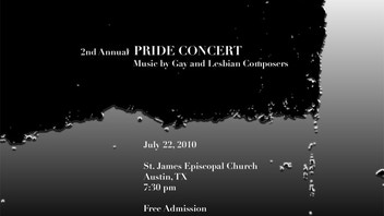 2nd Annual Pride Concert:  Music by Gay and Lesbian Composers