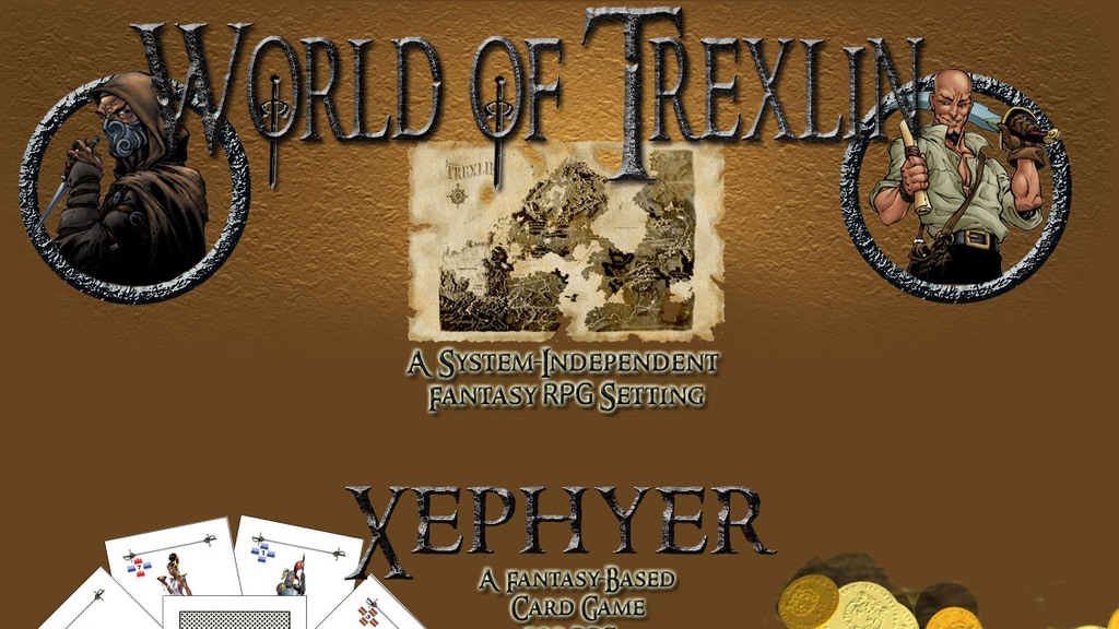 Project image for Fantasy Tabletop RPG Setting and Card Game - Trexlin & Xephyer (Canceled)