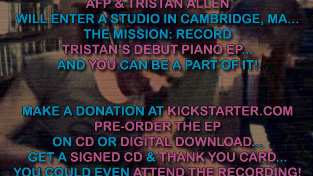Amanda Palmer Presents: Tristan Allen's Debut EP (Recording/Release) project video thumbnail