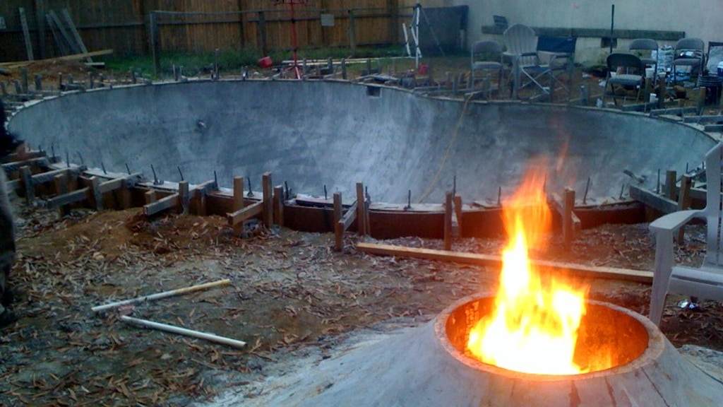how to make a concrete skate bowl