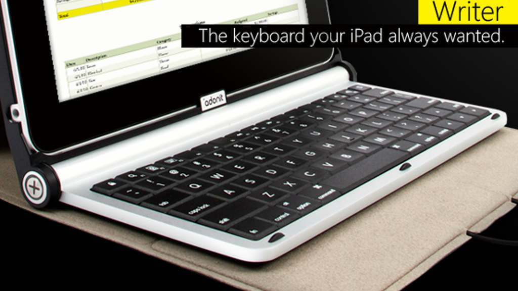 Adonit Writer: iPad Case + Keyboard project video thumbnail