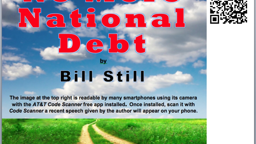 """First interactive book: """"No More National Debt"""" project video thumbnail"""