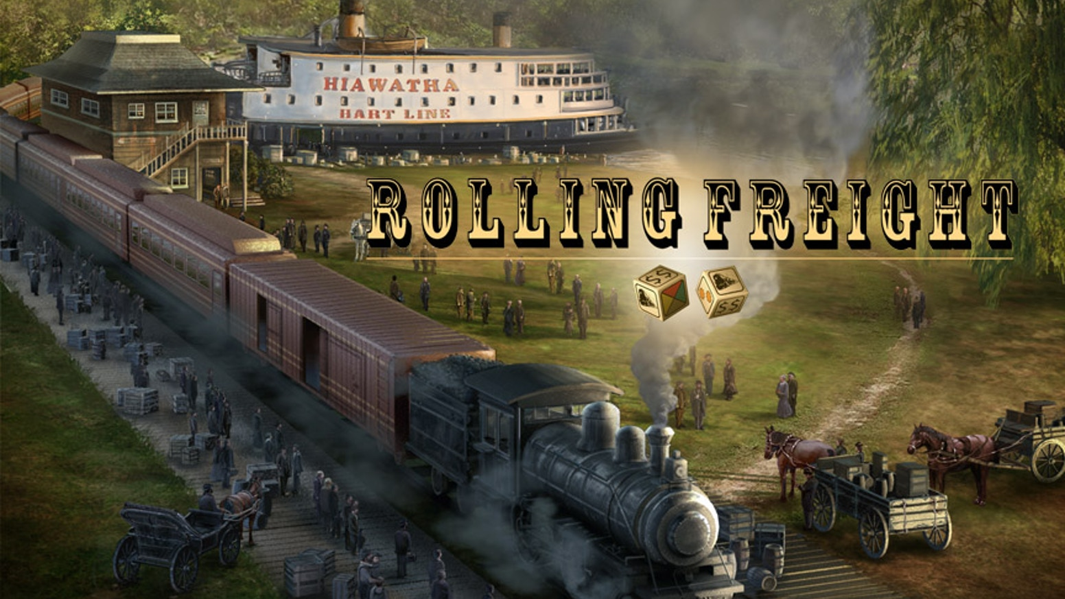 Rolling Freight is a game of building rail and shipping routes and selecting the most profitable cargo to carry across those routes. You can still get Rolling Freight - click the button below!