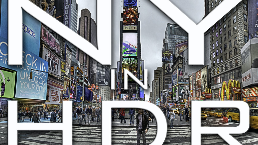 New York in HDR photography exhibit project video thumbnail