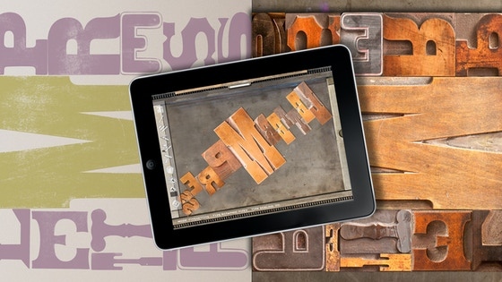 LetterMpress:  A Virtual Letterpress on Your iPad project video thumbnail