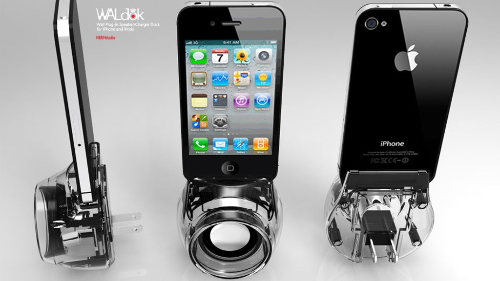 WALdok :: Wall Plug-In Speaker/Charger for iPhone/iPods project video thumbnail