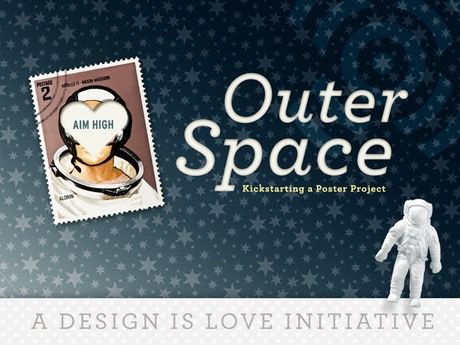 Design is love outer space poster project by design is for Outer space design group pty ltd