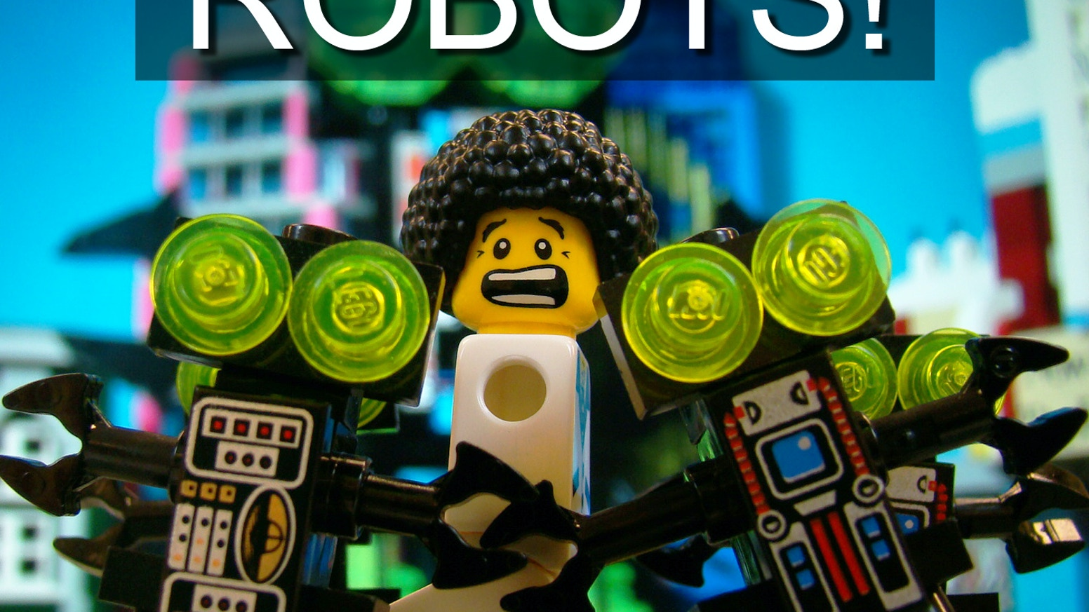 """Robots!"" is a stop motion animation made using LEGO bricks. You can watch it now on YouTube."