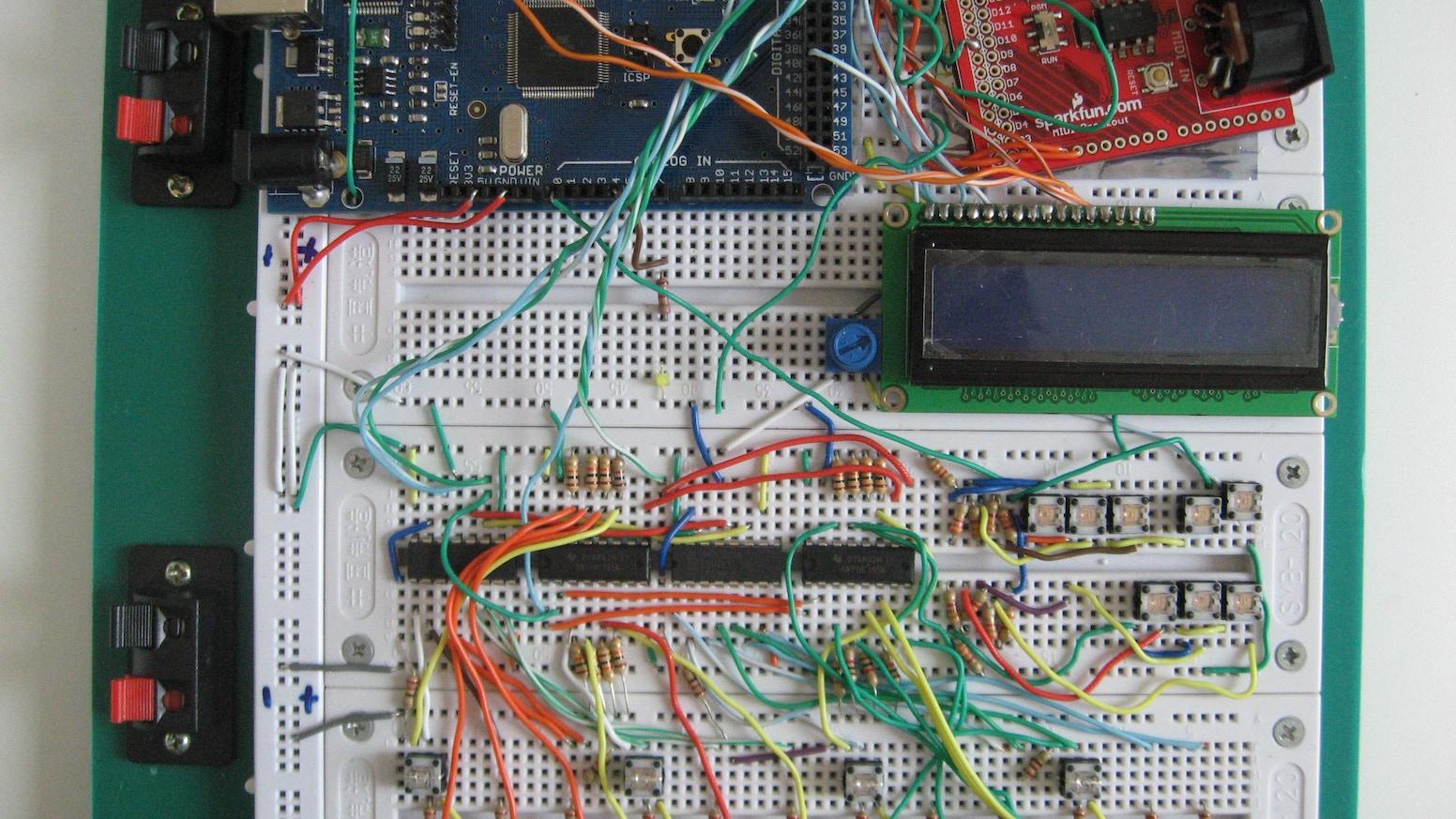Arduino Drum Machine Step-Sequencer / Groove-Box by Rugged