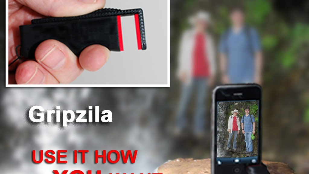 Gripzila - A Super Simple Universal Smartphone Stand project video thumbnail