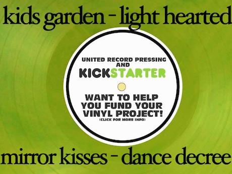 Kid 39 s garden mirror kisses split album on vinyl by for Mirror kisses