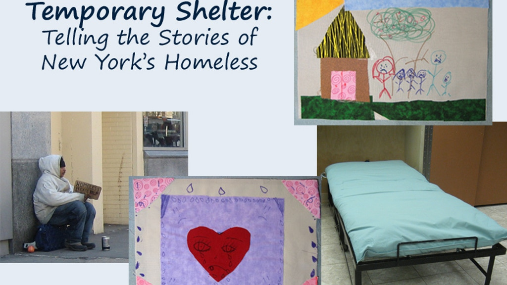 Temporary Shelter: A Walk-Through Exhibit of Homeless Life project video thumbnail