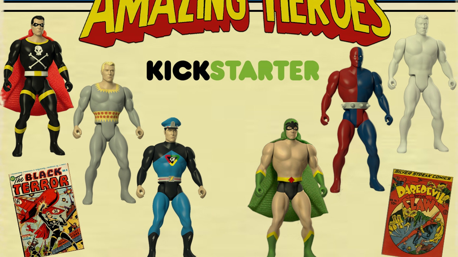 b0f33fb2be7f1 Amazing Heroes  Retro Style Super Hero Action Figures by Bill Murphy ...