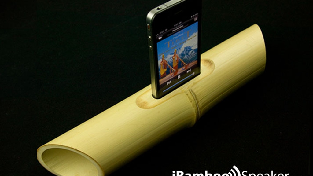 Electricity-free Bamboo Speaker for iPhone 4 project video thumbnail
