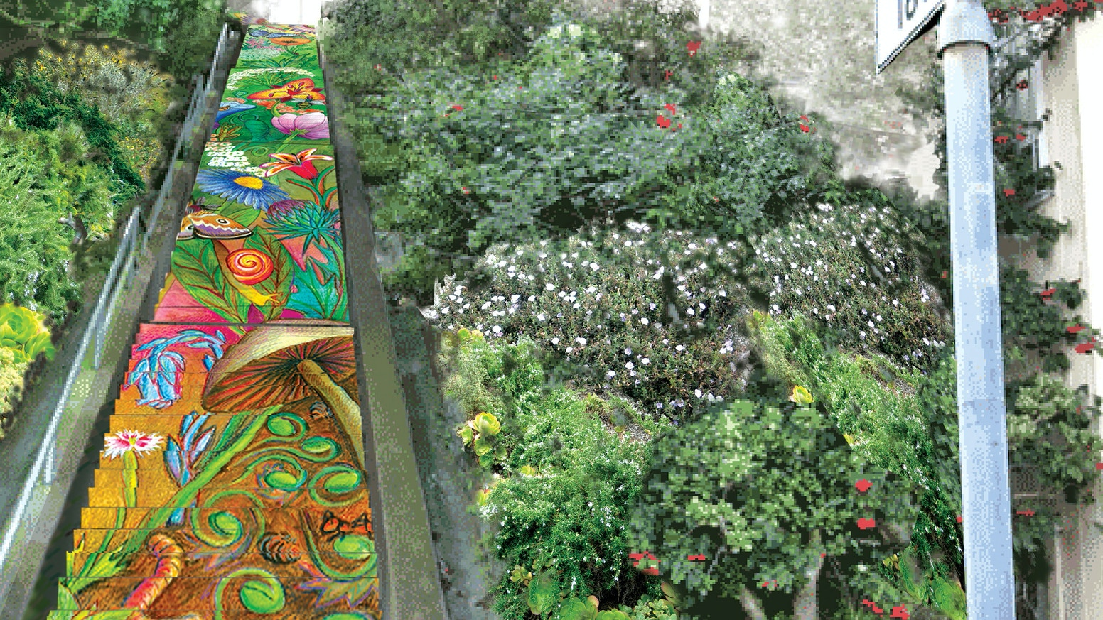 tile the hidden garden steps honor lgbts - Hidden Garden
