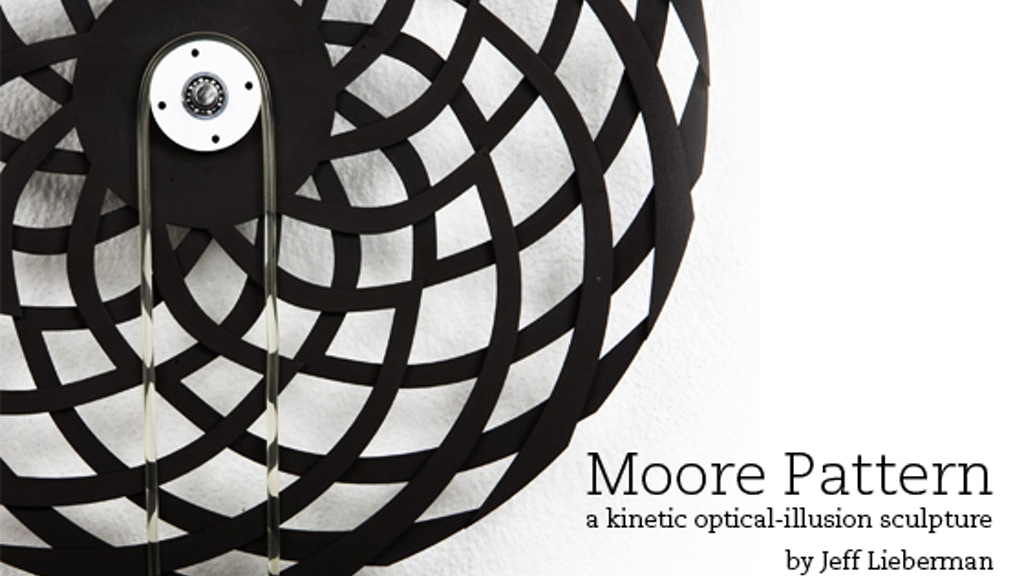 Moore Pattern — a kinetic optical-illusion sculpture project video thumbnail