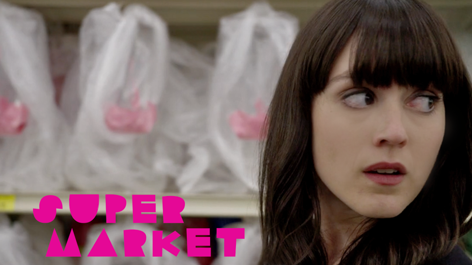 A supermarket transforms into a universe about pregnancy when a preoccupied woman dashes in & discovers she's pregnant with no way out.