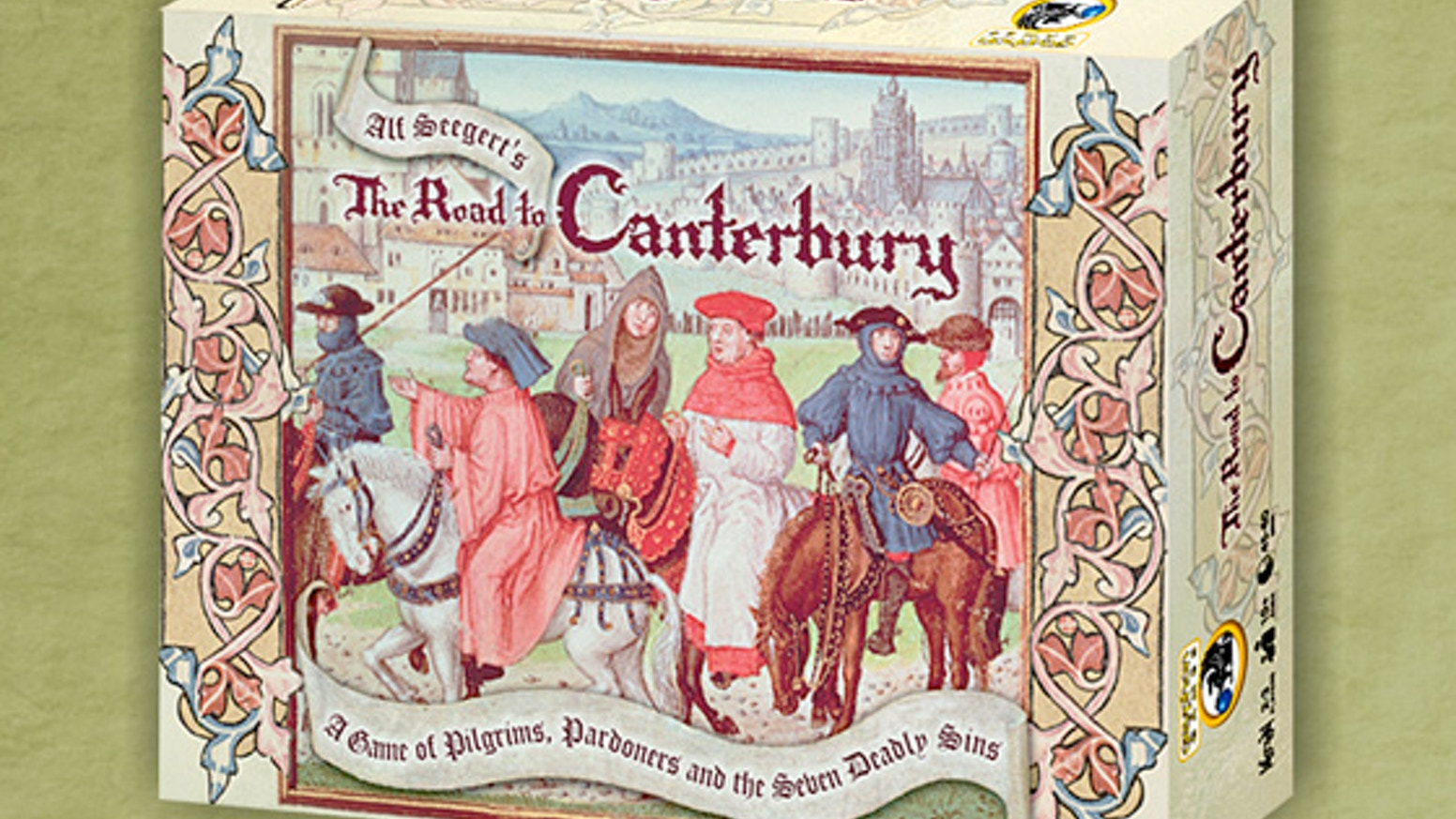 Join the Pardoner's Guild & help Gryphon Games launch the sin-filled delightful game, The Road to Canterbury, designed by Alf Seegert.