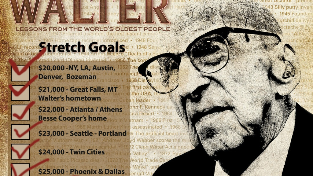 WALTER: Lessons from the World's Oldest People project video thumbnail