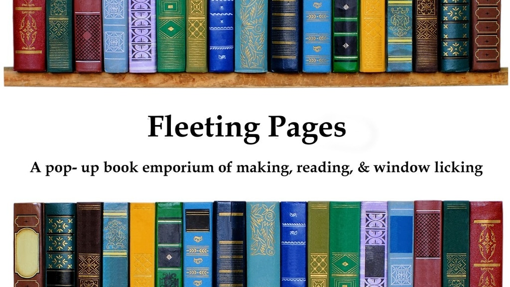 Fleeting Pages: pop-up indie book emporium project video thumbnail