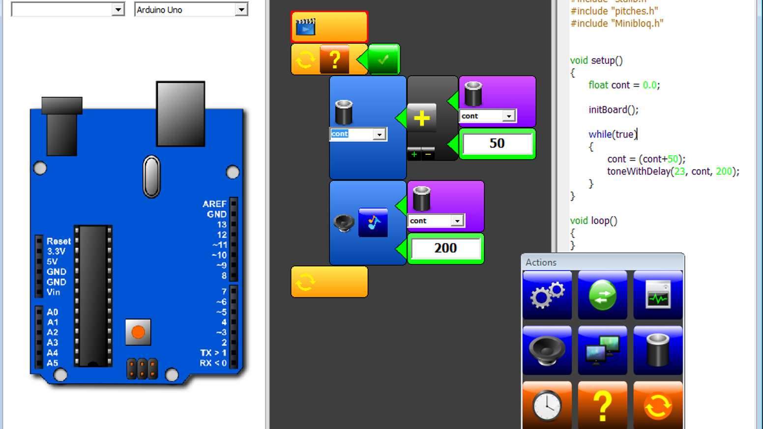 Minibloq: graphical programming environment for Arduino by Minibloq
