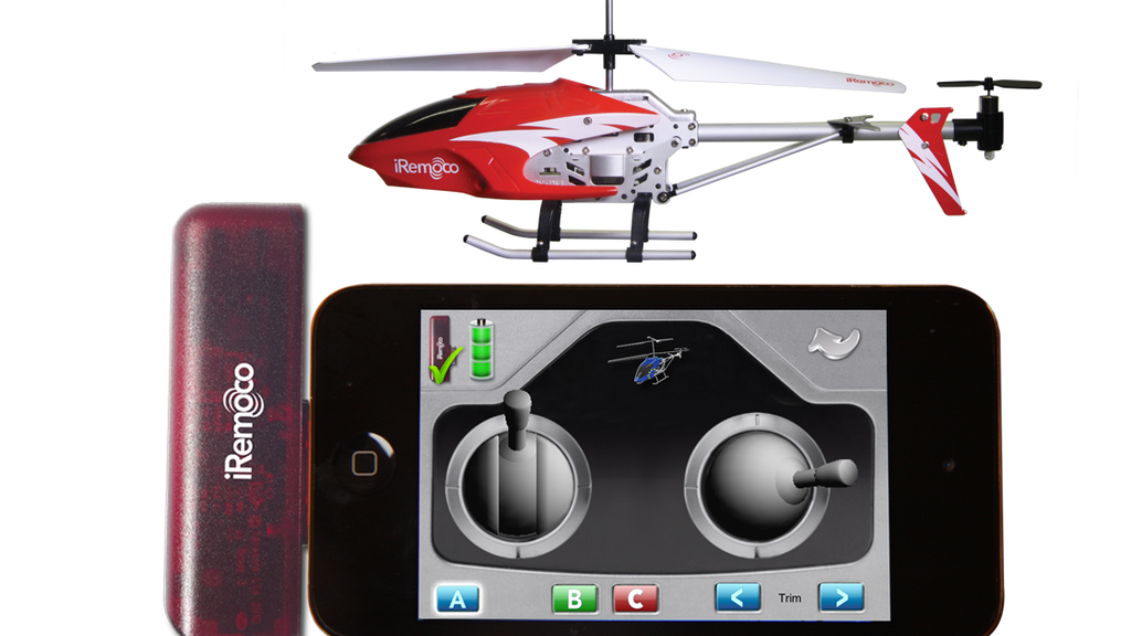 iRemoco - remote control helicopter for iPhone, iPod & iPad project video thumbnail