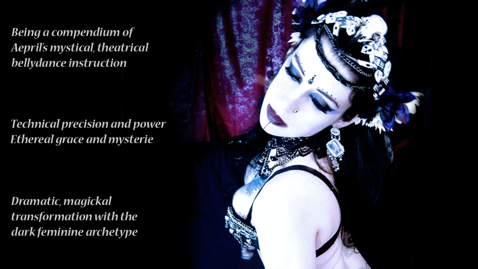 An instructional/performance Bellydance DVD focusing on dance technique,  form, expression, energy