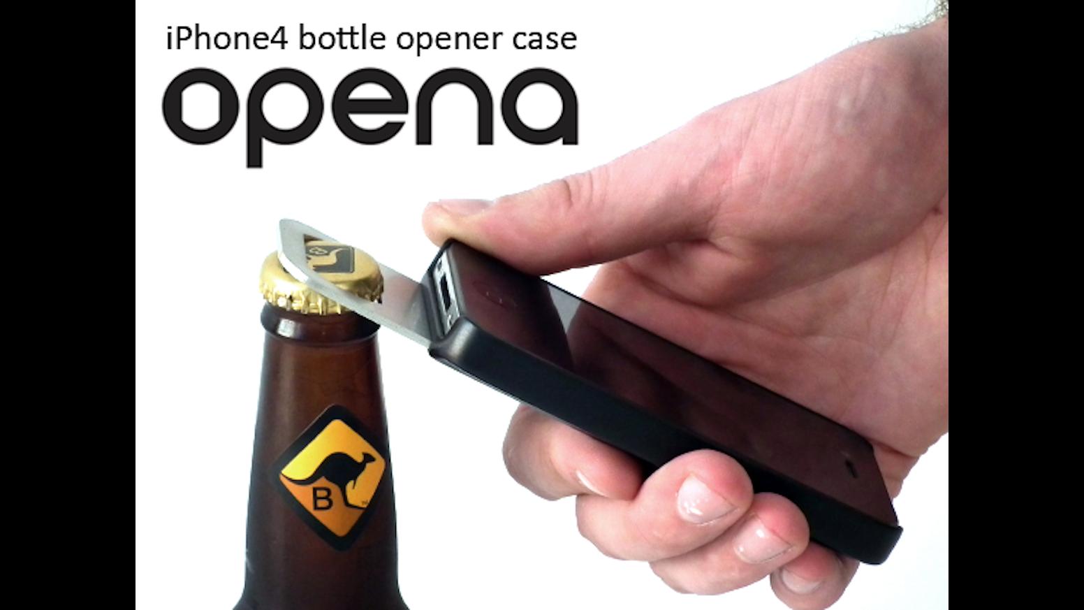 opena iphone bottle opener case by rob ward chris peters kickstarter. Black Bedroom Furniture Sets. Home Design Ideas