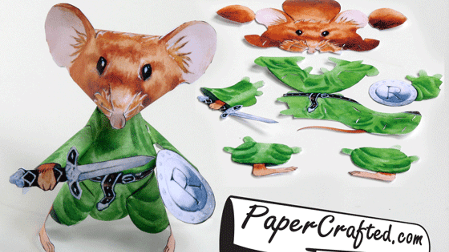 Paper craft warrior mouse! pre-cut and mailed to you. by ...