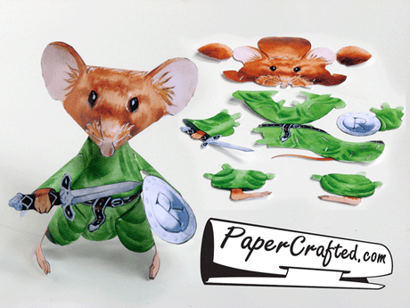 Paper Craft Warrior Mouse Pre Cut And Mailed To You By Tyler