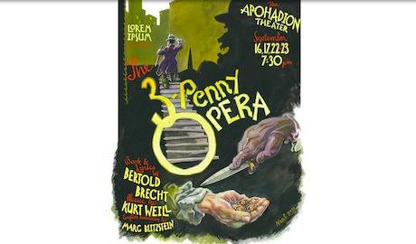 Lorem ipsum presents the threepenny opera by lorem ipsum for Food bar brecht