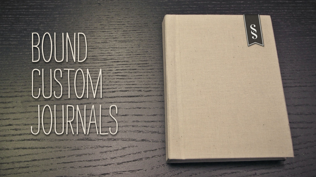 Bound Custom Journals project video thumbnail