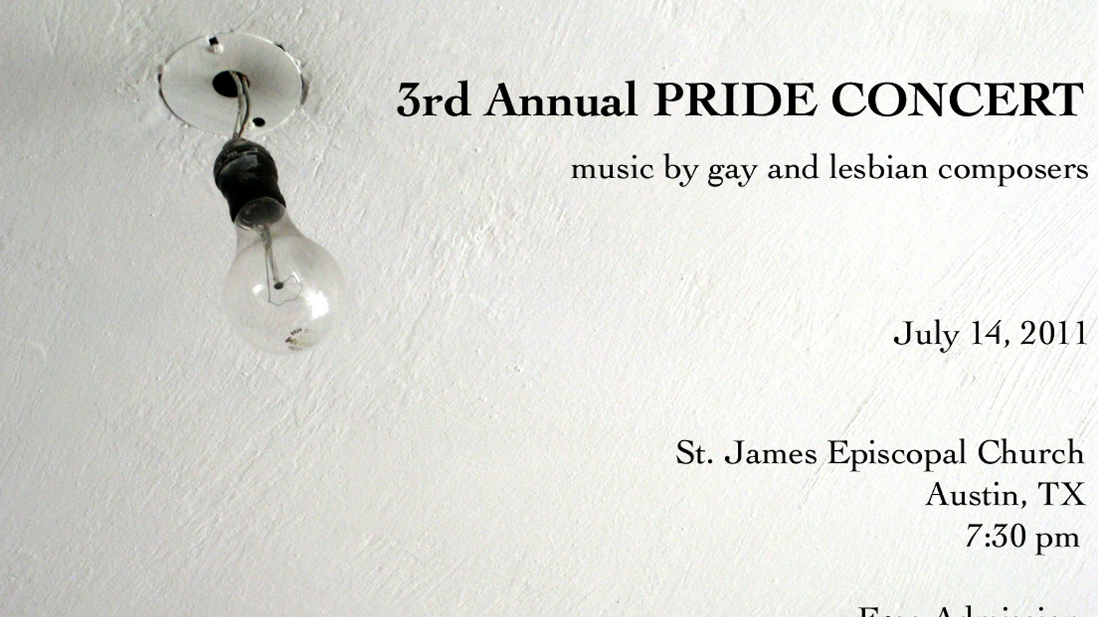 3rd Annual Pride Concert Music By Gay And Lesbian Composers By Russell Reed Kickstarter