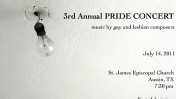 3rd annual Pride Concert: music by gay and lesbian composers