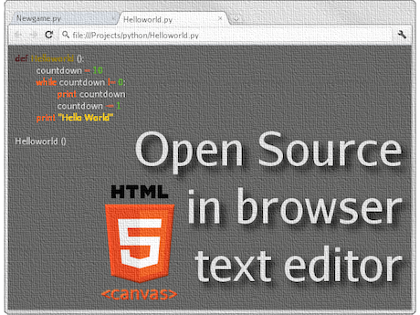 Open Source Programmer 39 S Text Editor Using Canvas And