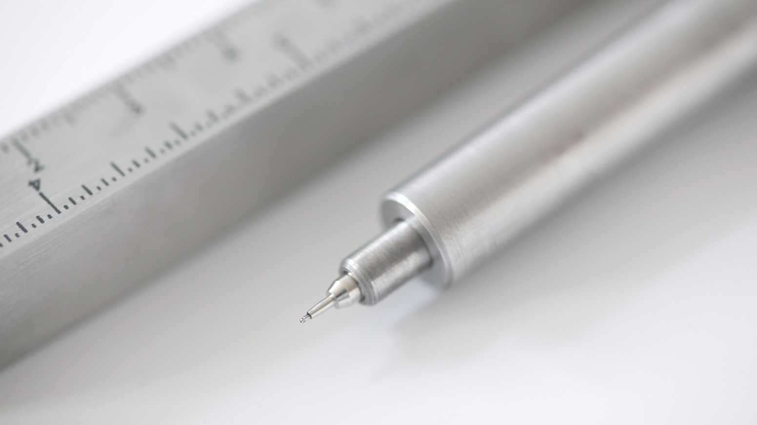Pen Type-A is the original stainless steel ruler sleeve and ultra minimal pen.