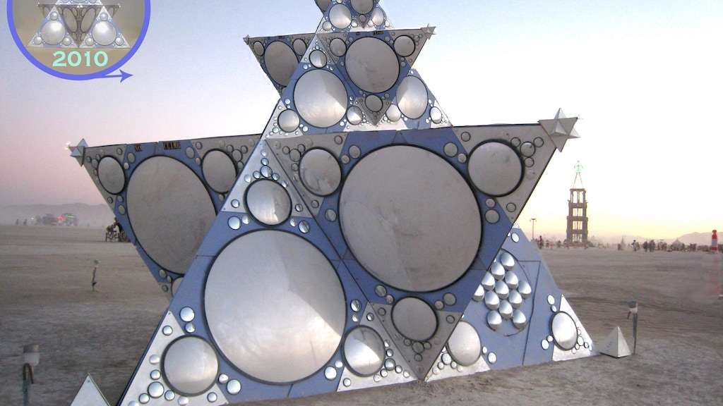 """Project image for """"Constellation of One"""" unfolding anew..Burning Man 2011"""