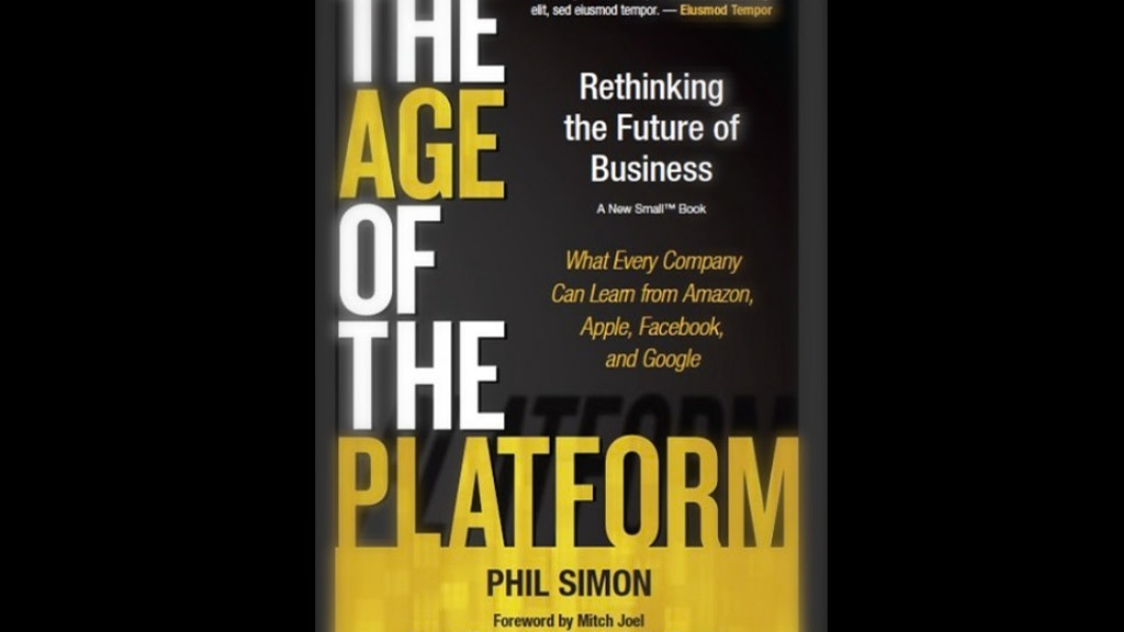 The Age of the Platform: My Fourth Book project video thumbnail